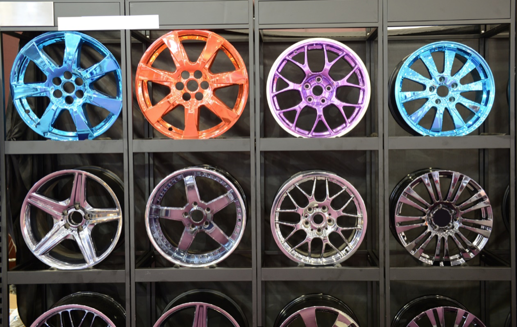 powder coating of wheels